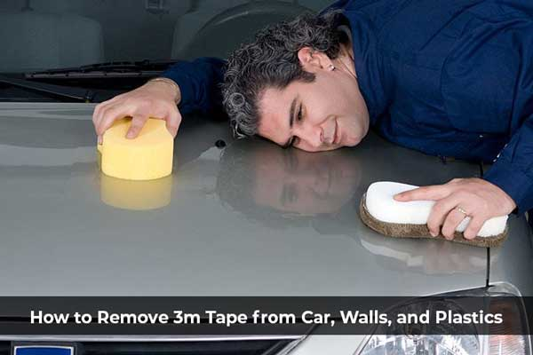 How to remove 3m double sided tape