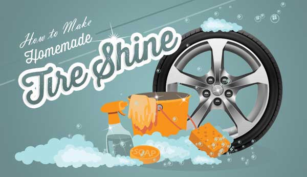 homemade tire shine easy diy project