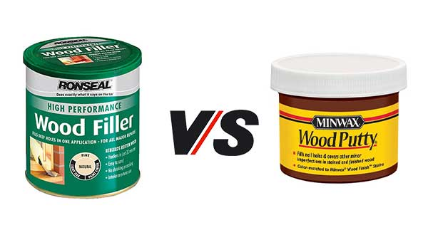 Wood Putty vs Wood Filler